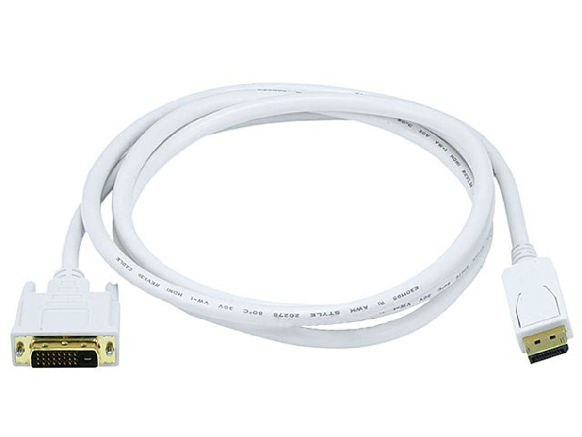 DP to DVI Cable, 6ft (~2m)